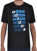 adidas Mens T Shirt Tee QQR Repeat Linear CreckNeck T Shirt S-XXL New A98762 (M)