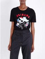 Sandro Okinawa cotton-jersey t-shirt