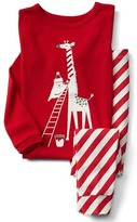 Gap Candy cane giraffe sleep set