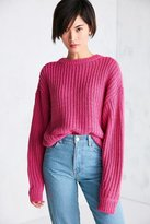 BDG Ashley Waffle Stitch Crew Neck Sweater