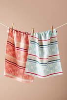 Anthropologie Vintro Dish Towels, Set of 2