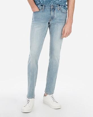 Express Super Skinny Light Wash Tough Stretch+ Jeans