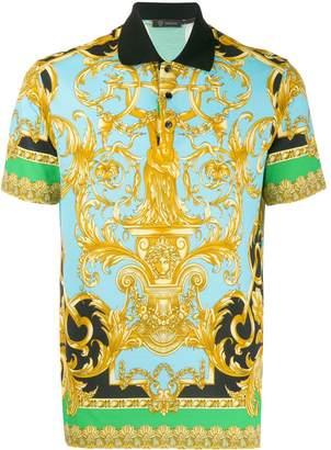 Versace Baroque print polo shirt