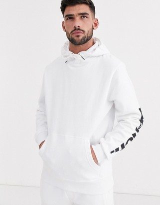 Bench co-ord hoodie relaxed fit with side logo in white