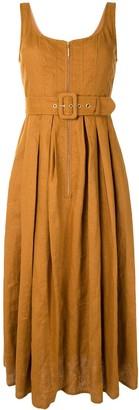 Karen Walker Poppy belted linen dress