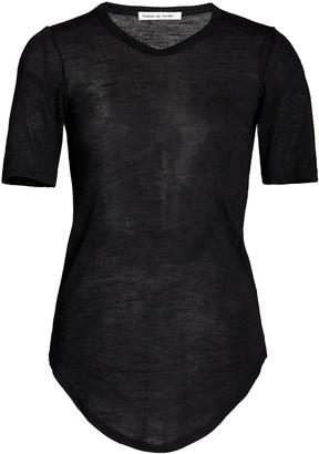 FRANCES DE LOURDES Hardy Cashmere-Silk T-Shirt