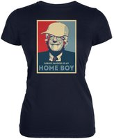 Old Glory Election 2016 Bernie Sanders Is My Home Boy Navy Juniors Soft T-Shirt