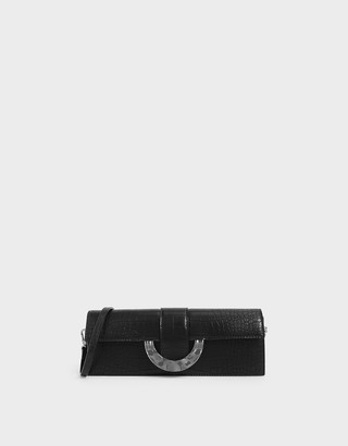 Charles & Keith Croc-Effect Long Clutch