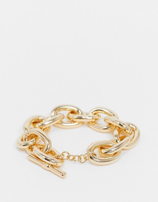 Pieces chunky link bracelet in gold