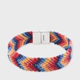 Paul Smith Multi-Coloured Chevron Stripe Silk Bracelet