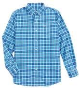 Vineyard Vines Boy's Plaskett Creek Plaid Whale Shirt