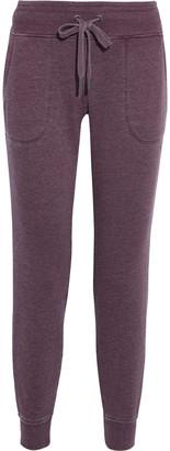 DKNY Melange Cotton-blend Fleece Track Pants