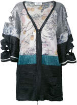 Aviu cutout patchwork jacket
