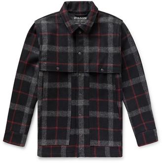 Filson Layered Checked Wool Coat - Black