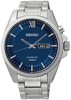 Seiko Smy159p1 Core Kinetic Bracelet Strap Watch, Silver/blue