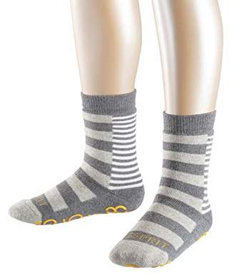 Esprit Block Stripe Homepads Slipper Socks - 82% Cotton, (Light Melange 3390), UK 3-5 (Manufacturer size: 35-38), 1 Pair