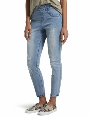 Hue Women's Distressed Ultra Soft Denim 7/8 Legging