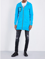 Balmain Long embellished cotton-jersey hoody
