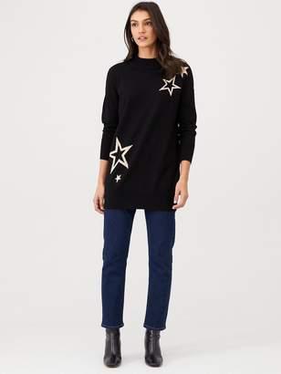Wallis Star Knitted Tunic - Black