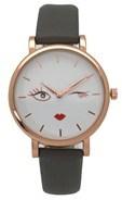 Olivia Pratt Women's Wink Chic Leather Watch.