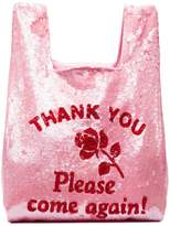 Ashish pink Thank You sequin tote