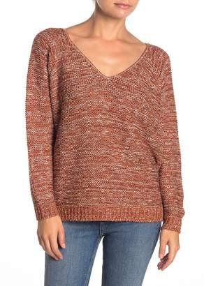 Susina V-Back Marled Knit Sweater (Petite)