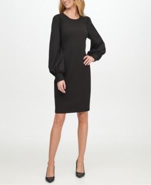 Calvin Klein Scuba-Crepe Sheath Dress