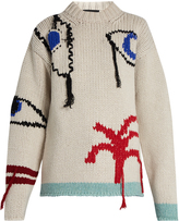 Joseph Eye and tree-embroidered wool sweater