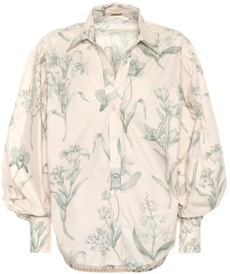 Johanna Ortiz Green Leaving cotton poplin shirt