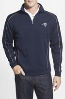 Cutter & Buck Men's Big & Tall 'Los Angeles - Edge' Drytec Moisture Wicking Half Zip Pullover