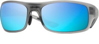 Maui Jim Big Wave 67mm Polarized Wraparound Sunglasses