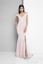 Terani Evening - Off Shoulder Beaded Strap Evening Dress 1713E3338