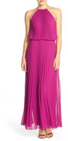 Xscape Evenings Pleated Chiffon Blouson Dress