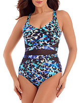 Miraclesuit Seaglass It's A Cinch Underwire Printed One-Piece