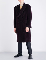 Canali Double-breasted alpaca and wool-blend coat