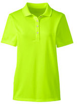 Lands' End Women's Short Sleeve Solid Active Polo-Electric Yellow Neon
