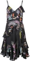 Josie Natori Kyoto print ruffle dress