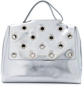 Orciani studded flap tote - women - Calf Leather - One Size
