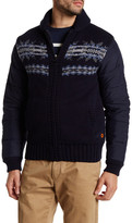 Barbour Bartlett Quilted Wool Zip-Up Sweater
