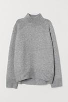 H&M Knit Mock-turtleneck Sweater - Gray
