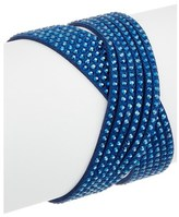 Swarovski Crystal Leather Wrap Bracelet.