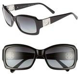 Tory Burch Women's 56Mm Polarized Sunglasses - Black