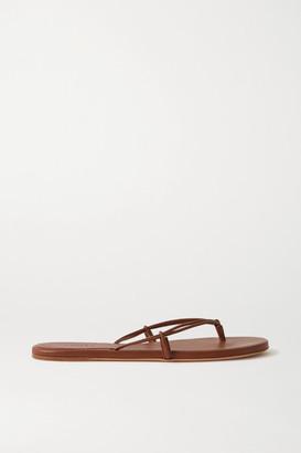 Gabriela Hearst Leather Flip Flops - Tan