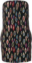 Saint Laurent embroidered fitted dress