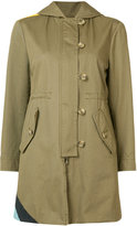 RED Valentino wave detail parka coat - women - Cotton - 40