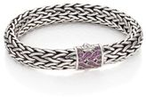 John Hardy Classic Chain Pink Sapphire & Sterling Silver Large Bracelet