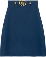Gucci Crêpe wool silk skirt - women - Wool/Silk - 40
