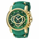 Invicta Men's 19331 S1 Rally Gold-Tone and Green Stainless Steel Watch