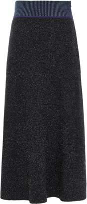 3.1 Phillip Lim Folk Flared Boucle-knit Midi Skirt