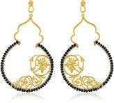 Azaara Filigree Romantic Grapevine Onyx Earrings